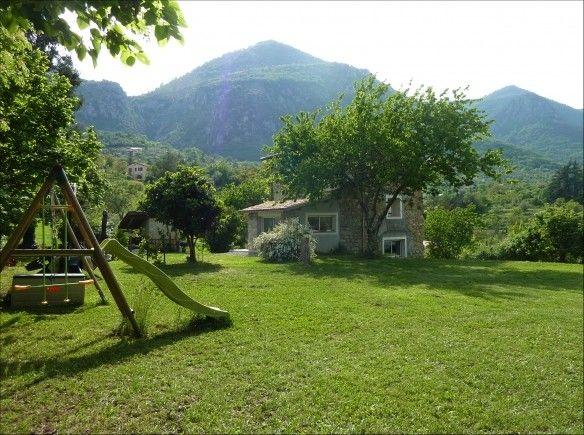 Troca de casas : jardim da casa do Laurent