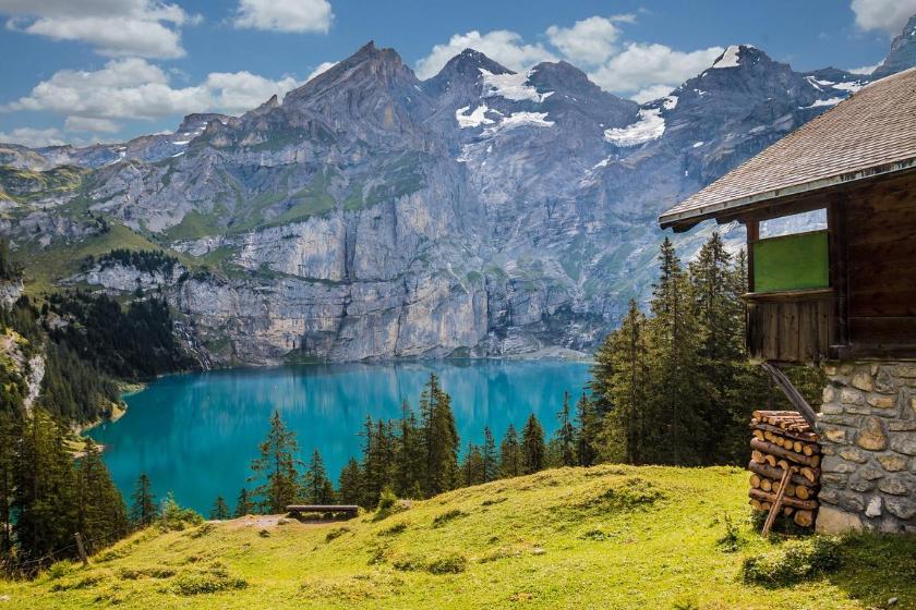 montanha férias Troca de casa Kandersteg Suíça cantão de Berna montanha férias Verão