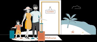 mudança de família-casa - viagem de férias